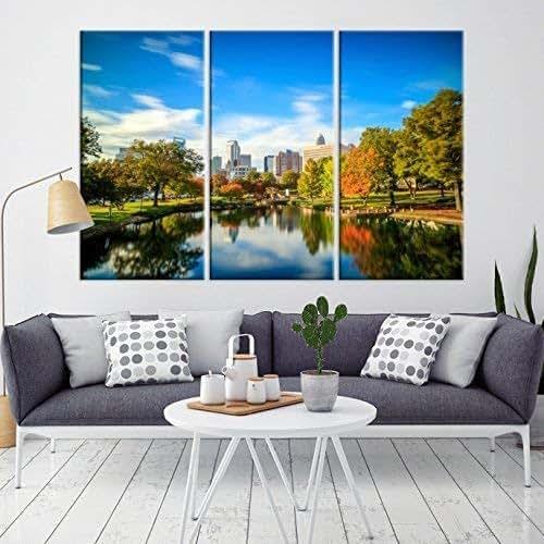 Amazon.com: Charlotte Skyline Wall Art Canvas Print For