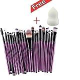 Sandistore 20pcs/set Makeup Brush Set tools Make-up Toiletry Kit Wool Make Up Brush Set
