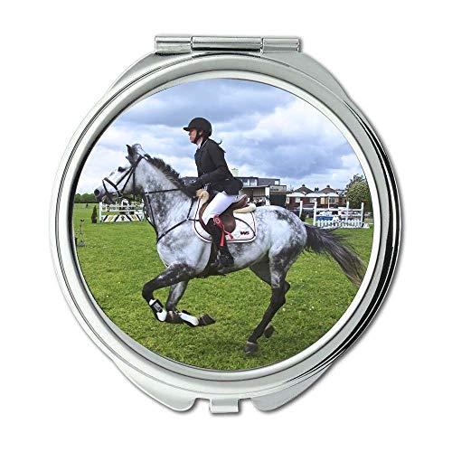 Mirror,makeup mirror,animal equestrianism horse,pocket mirror,portable - Mirrors Bathroom Tampa