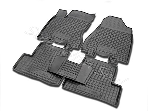 Fully Tailored Rubber / Set of 5 Car Floor Mats Carpet for NISSAN X-TRAIL (T31) 20072013