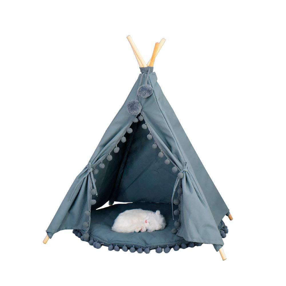 QNMM Cama portátil para Mascotas Teepee, extraíble y Lavable, con Juegos para Mascotas. Cama Apta para Mascotas pequeñas Entretenimiento y Descanso,White ...