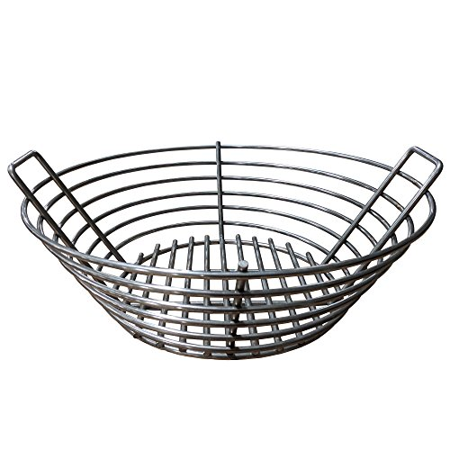 y Stainless Steel Lump Charcoal Basket Fits Large BGE (Coal Grate)