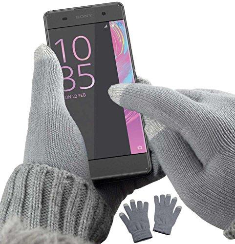 YaYago Gants écran tactile capacitif Taille universelle (env. M–L)–pour Sony Xperia XA/Sony Xperia XA Dual