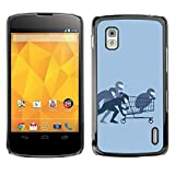 For LG Nexus 4 E960 , S-type Funny Glasses Dog Cute - Colorful Printed Hard Protective Back Case Cover Shell Skin