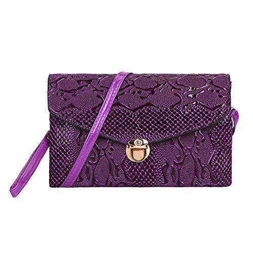 sera PU borsa per tracolla a tracolla a in Borsa tracolla a da donna mini Borsa per Purple pelle CwqAtURW