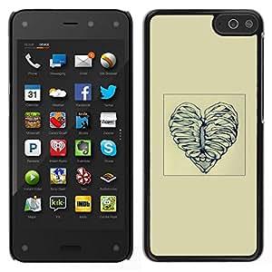 // PHONE CASE GIFT // Duro Estuche protector PC Cáscara Plástico Carcasa Funda Hard Protective Case for Amazon Fire Phone / Deshuesar corazón del amor /
