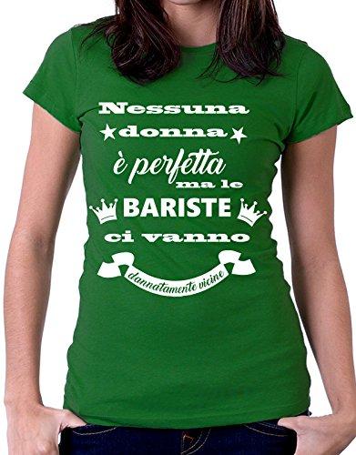 Vanno Ci Bariste Mestieri VicineBarista Tutte Tshirteria By È Perfetta Taglie Ma Le Dannatamente Donna Verde Tshirt Nessuna CxodBe