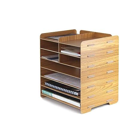 Archivadores con espiral Gabinete de archivos de escritorio Oficina de madera de 7 capas, caja