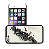 Luxlady Premium Apple iPhone 6 Plus iPhone 6S Plus Aluminum Backplate Bumper Snap Case IMAGE ID 31278474 Looking down on a two seat vintage motorcycle outdoors in the sunshine on cement