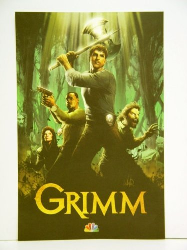 Grimm Poster with art of David Giuntoli Russell Hornsby Silas Weir Mitchell Mary Elizabeth Mastrantonio Poster PLUS Police Caution Tape with the Grimm Logo on it