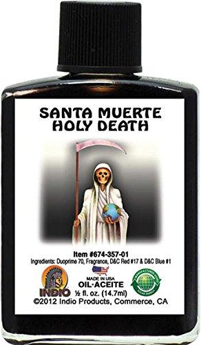 INDIO Oil- Holy Death MUERTE Black 1/2oz