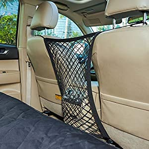"INNX Pet Barrier Safety Net Dog Barrier-OP102008 (2019 Popular Design) Universal for Cars, Jeeps, Trucks, Suvs, Vehicles, Dogs, Pets, Seatback, Front Seat, Heavy Duty and Portable, 11.8"" W x 23.6"" H 76"