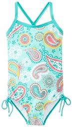 Kanu Surf Baby Girls\' Secret Garden 1 Piece Swimsuit, Ice Green, 18 Months