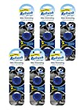 Refresh Your Car! 86606 Power Plug-in Oil Refill, New Car Scent, 6-Pack