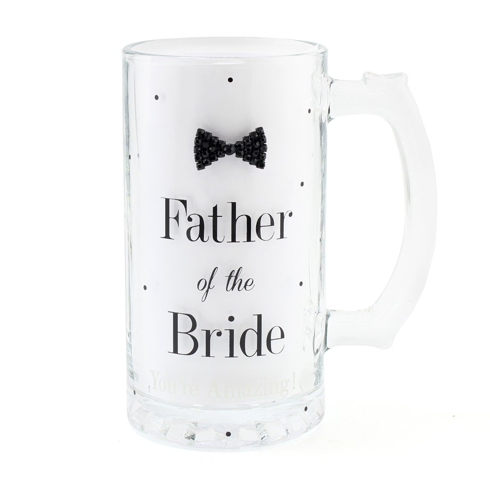 Father of the Bride Glass Tankard Special Occasion Wedding Gift Lesser & Pavey