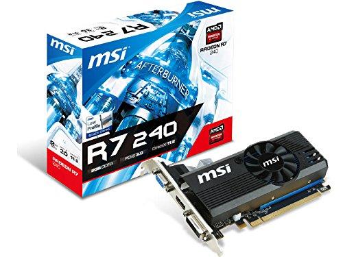 MSI AMD Radeon R7 240 2GB DDR3 VGA/DVI/HDMI Low Profile PCI-Express Video (Ati Radeon Low Profile)