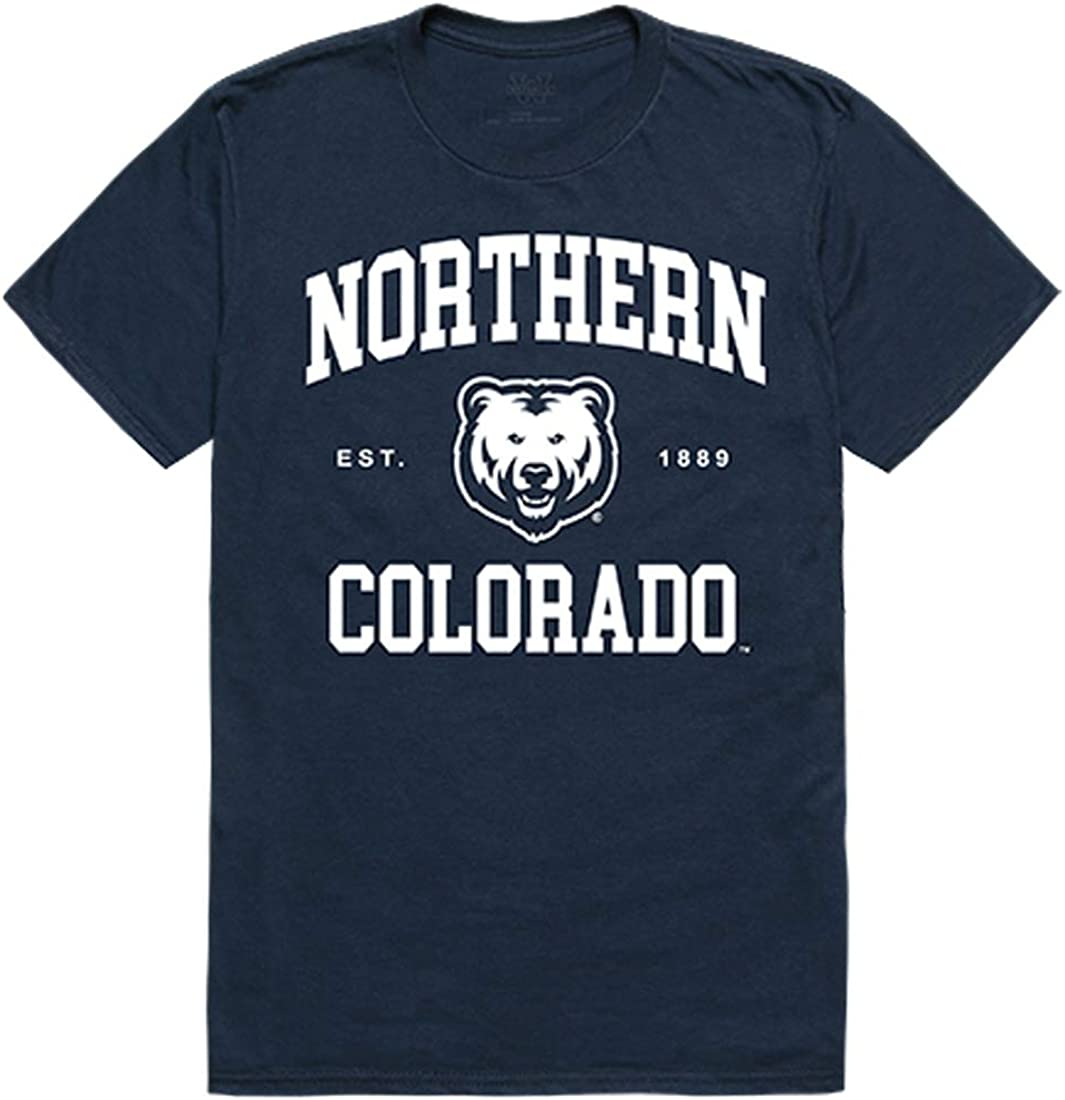 UNCO University of Northern Colorado Bears NCAA Mens Seal College Tee t Shirt
