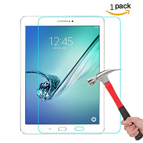 Galaxy Tab S3 / Galaxy Tab S2 9.7 Screen Protector, NOKEA [Tempered Glass] [9H Hardness] [HD Clear] [Easy Bubble-Free Installation] [Scratch Resist] for Samsung Galaxy Tab S3/S2 9.7