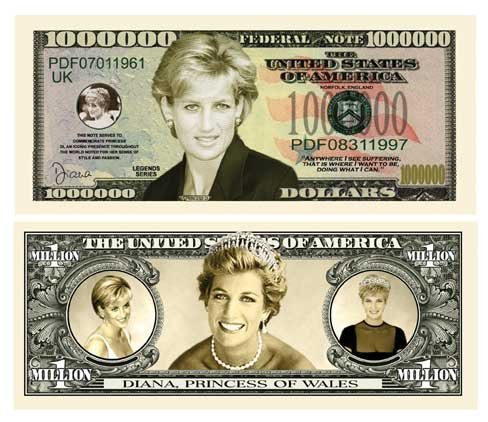 (Princess Diana $Million Dollar$ Novelty Bill)