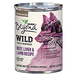 Purina Beyond WILD Prey-Inspired Beef, Liver & Lamb Recipe Adult Wet Dog Food - Twelve (12) 13 oz. Cans