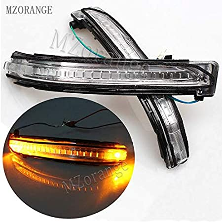 MZORANGE Rear view Mirror Turn Signal Lamp For X-Trail 2014 2015 2016 For Qashqai 2016 LED Repeater Light Indicator Left/&Right