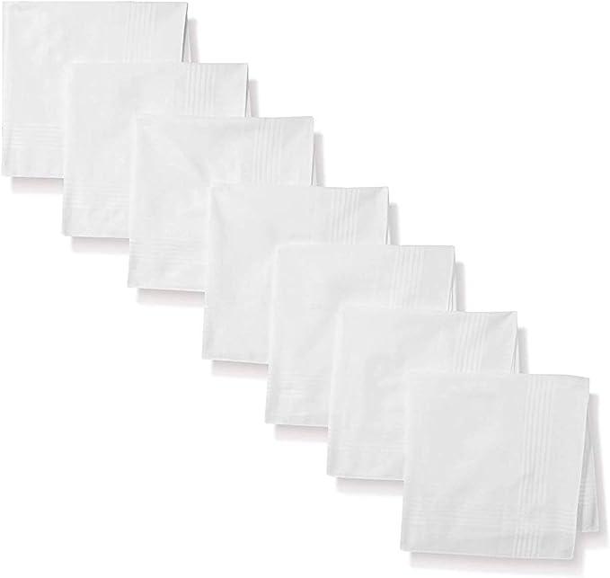 Pañuelos de Algodón Blanco - 100% Algodón Supima de Lujo - Paquete ...