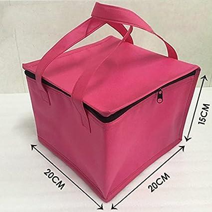 attivit/à allAria Aperta Colore: Rosso Quadrata Blu per Picnic Portatile Campeggio Borsa Termica per Il Pranzo Shuda Lavoro Scuola 20 * 20 * 15 cm 20 x 20 x 15 cm