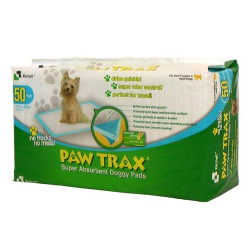 Paw Trax Training Pads - 50 Count Bag (White) (0