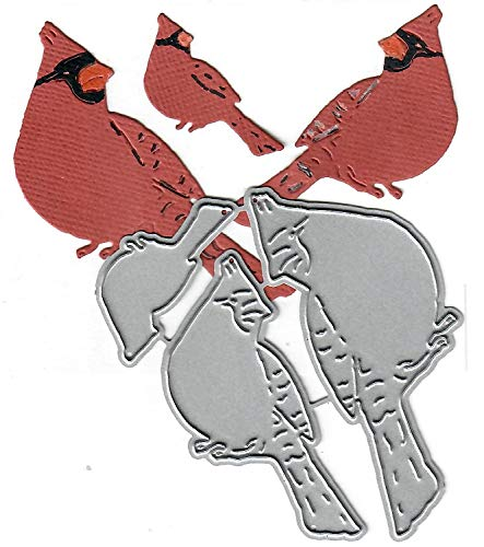 Dies to die for Metal Craft Cutting die - Cardinal Bird Family Trio - Sitting ()