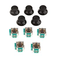 F Fityle 5 Pieces 3D Joystick Wireless Controller Rocker + 5x Thumb Stick Protector Thumbstick Grip Cap for Xbox 360 Replacement Part