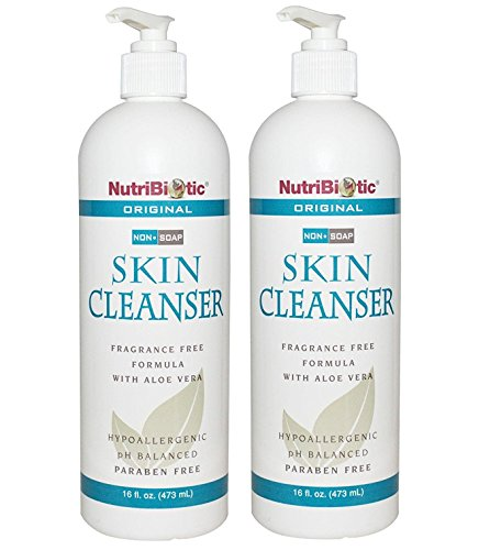 Skin Cleanser (Pack of 2) with Grapefruit Seed Extract, Rosemary, Aloe Barbadensis and Birch Leaf, 16 fl. oz. (Nutribiotic Skin Cleanser)