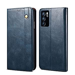 DOB® Shock Proof Flip Case Back Cover for Oppo Reno6 Pro 5G / Reno 6 Pro 5G Flexible Pouch | Faux Leather Finish…