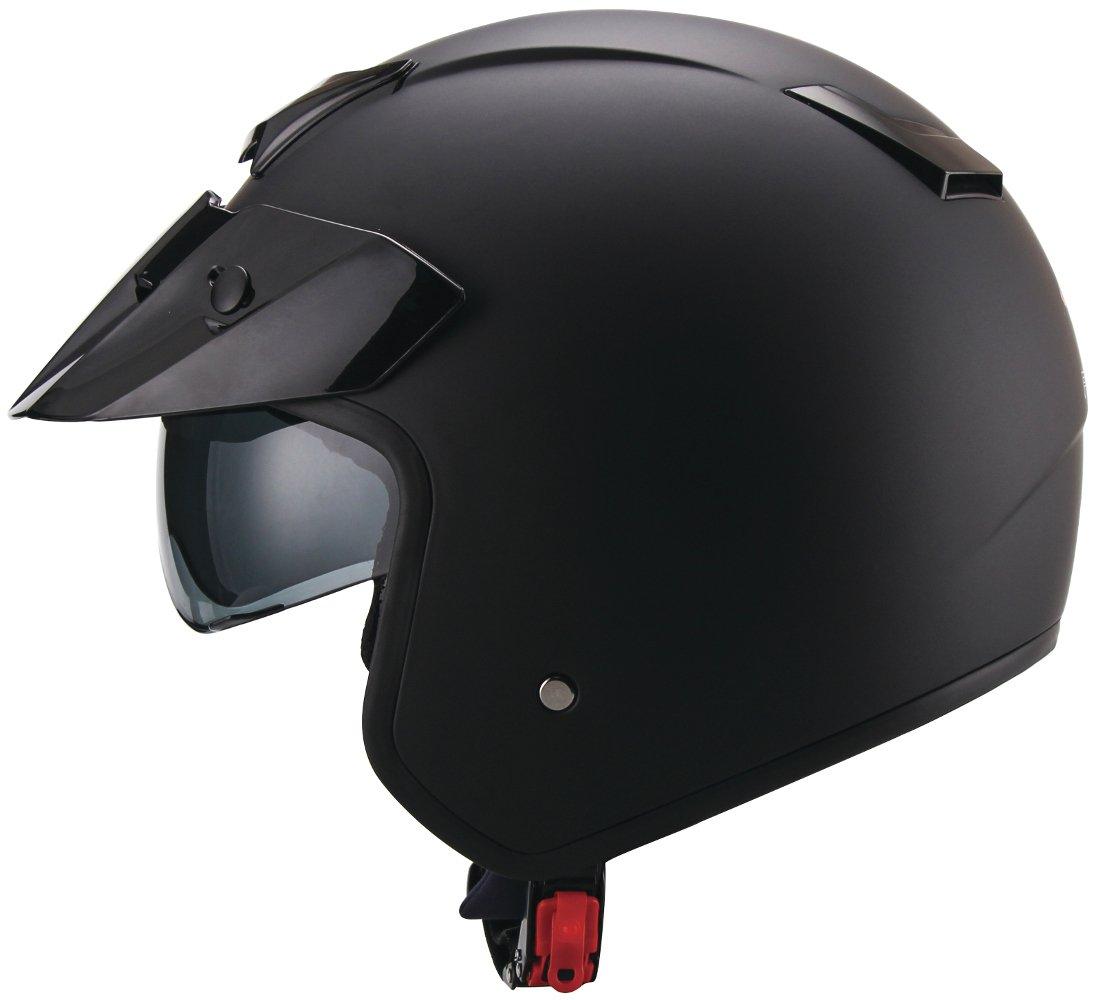 Amazon.es: RALLOX Helmets - Casco de moto Jet Abierto Scooter Negro mate Rallox 723 (S M L XL)  tamaño XL