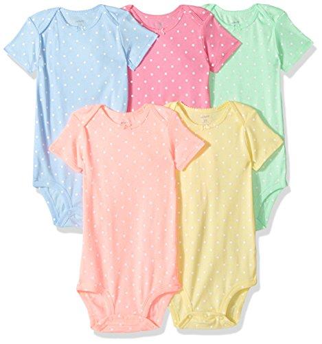 Carter's Baby Girls Multi-Pk Bodysuits 126g623, Assorted, 24 Months Baby