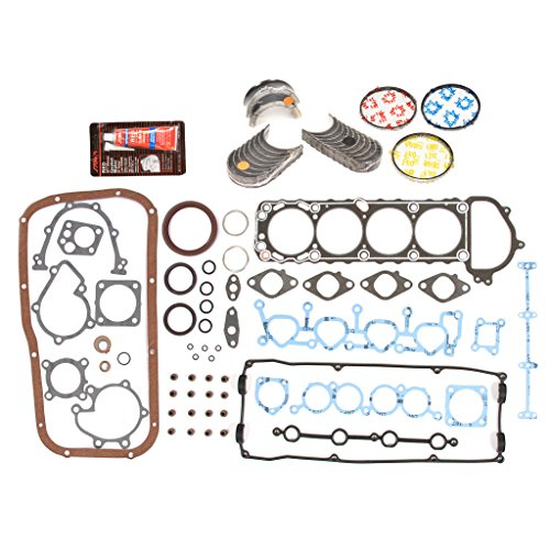 Evergreen Engine Rering Kit FSBRR3003EVE\0\0\0 91-94 Nissan 240SX 2.4 KA24DE Full Gasket Set, Standard Size Main Rod Bearings, Standard Size Piston Rings (Set Bearing Standard Rod)