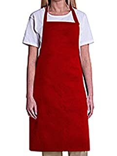 a5e97ecd76a Amazon.com: Natural Uniforms Commercial Bib Apron (2, Red): Kitchen ...