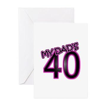 CafePress QuotDads 40th Birthday Cards Grusskarten Geschenke 4x56 Mehrfarbig
