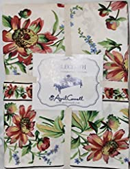 April Cornell French Country Spring Summer Cottage Floral Tablecloth 60 X  104 Easter