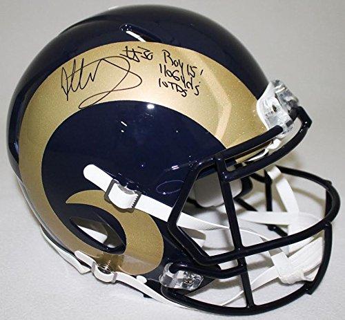 TODD GURLEY Autographed / Inscribed Rams Proline Helmet STEINER LE 11/30