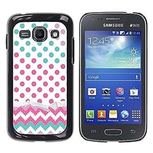 Be Good Phone Accessory // Dura Cáscara cubierta Protectora Caso Carcasa Funda de Protección para Samsung Galaxy Ace 3 GT-S7270 GT-S7275 GT-S7272 // Dot Chevron Teal Pink