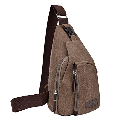 a50adeafc8 Amazon.com   Fashi Cool Outdoor Sports Casual Canvas Unbalance Backpack  Crossbody Sling Bag Shoulder Bag Chest Bag for Men   Sports   Outdoors