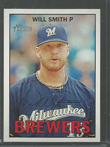 (2016 Topps Heritage #148 Will Smith Brewers MLB Baseball Card NM-MT)