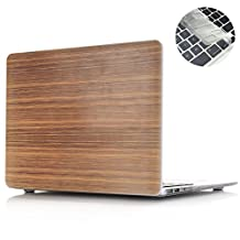 "Rinbers Wood Print Hard Case Cover for MacBook Pro 15""Inch A1286- Bamboo Print with Keyboard Skin"