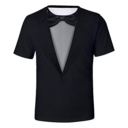 5b1bd3ec5 Amazon.com: YKARITIANNA Tuxedo White Funny Men's T-Shirt, Men Casual Summer  Suit Pattern 3D Short Sleeve O-Neck Tops Blouse T-Shirts: Arts, Crafts &  Sewing