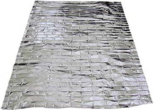 100 PACK • Emergency Solar Blanket Survival Safety Insulating Mylar Thermal Heat by SE (Image #1)
