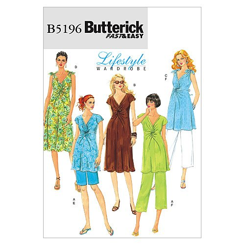 - Butterick Patterns 5196 Misses Maternity Top, Dress, Shorts and Pants Sizes 16-18-20-22-24