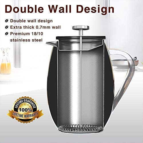 QuCrow French Press Coffee Maker