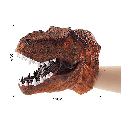 Price comparison product image Dinosaur Hand Puppet Role Play Realistic TyrannosauruS Rex Head Gloves Soft Toy