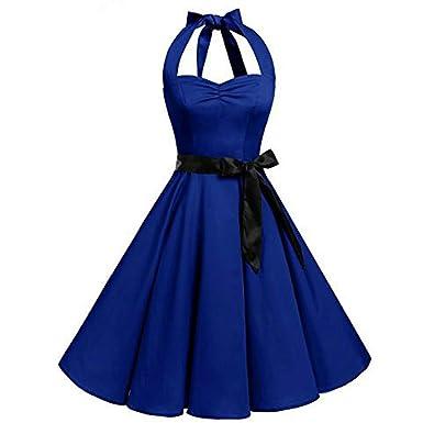 3dda4ef1474a Femme été Vintage Élégant Mini Robe