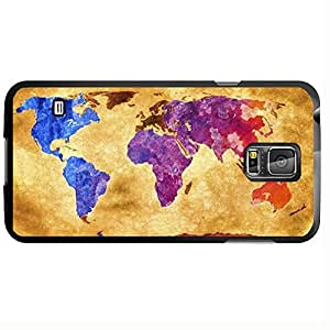 Antique World Map with Colorful Countries Hard Snap on Phone Case (Galaxy s5 V)